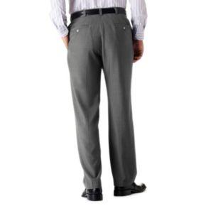 Big & Tall Haggar® eCLo™ Stria No-Iron Classic-Fit Flat-Front Dress Pants