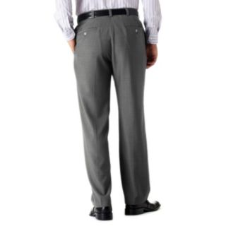 Big & Tall Haggar® eCLo? Stria No-Iron Classic-Fit Flat-Front Dress Pants