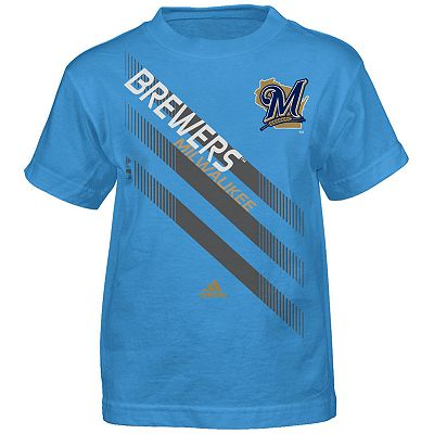 adidas Milwaukee Brewers Season Opener Performance Tee - Boys' 8-20
