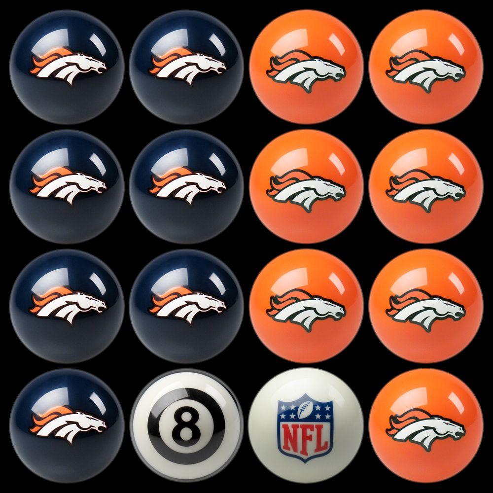 Denver Broncos Home vs. Away 16-pc. Billiard Ball Set