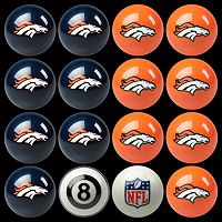 Denver Broncos Home vs. Away 16-pc. Billiard Ball Set