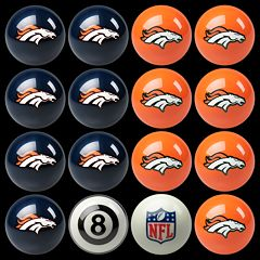 Denver Broncos Home vs. Away 16 pc Billiard Ball Set