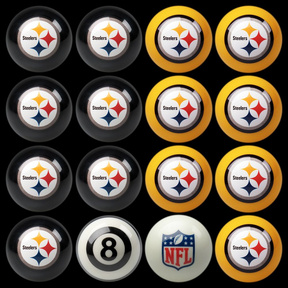 Pittsburgh Steelers Home vs. Away 16-pc. Billiard Ball Set