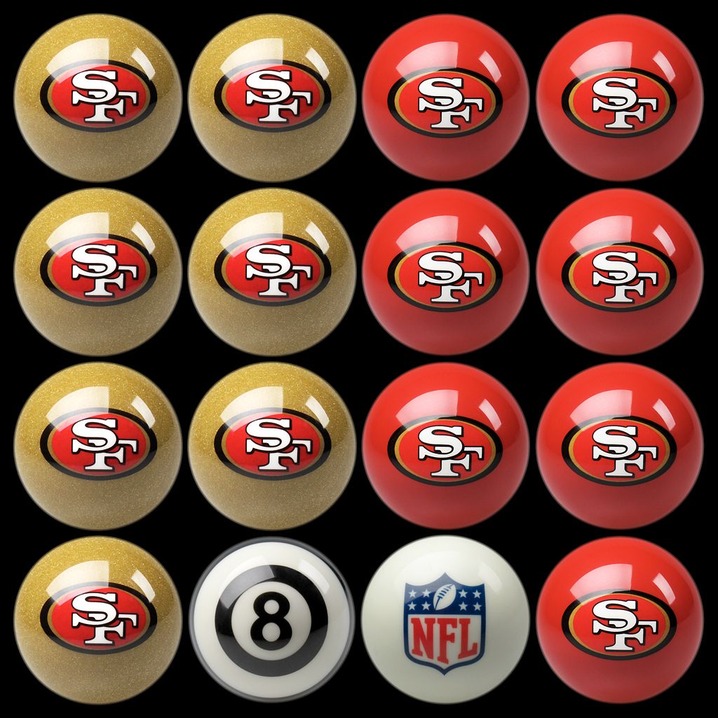 San Francisco 49ers Home vs. Away 16-pc. Billiard Ball Set