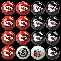 Kansas City Chiefs Home vs. Away 16-pc. Billiard Ball Set