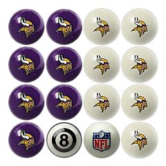 Minnesota Vikings Home vs. Away 16-pc. Billiard Ball Set