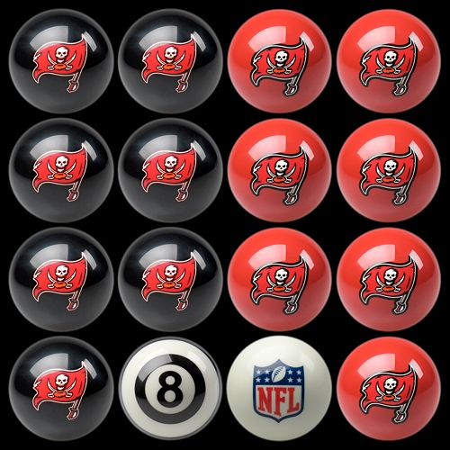 Tampa Bay Buccaneers Home vs. Away 16-pc. Billiard Ball Set