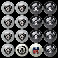 Oakland Raiders Home vs. Away 16-pc. Billiard Ball Set