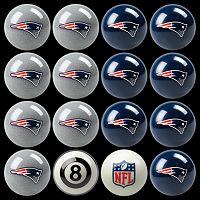 New England Patriots Home vs. Away 16-pc. Billiard Ball Set