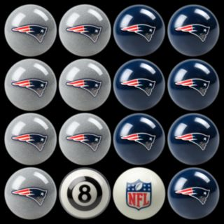 New England Patriots Home vs. Away 16-pc. Billiard Ball Set