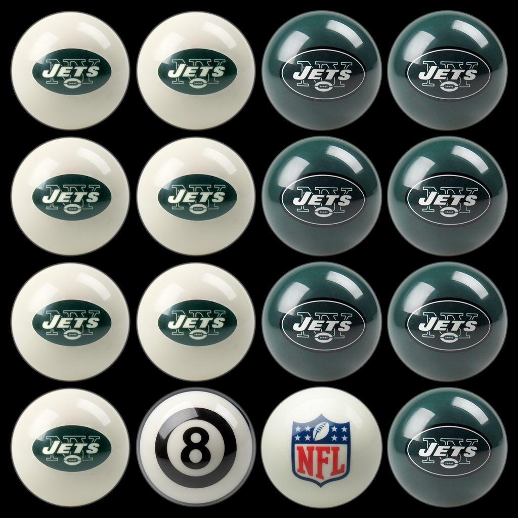 New York Jets Home vs. Away 16-pc. Billiard Ball Set
