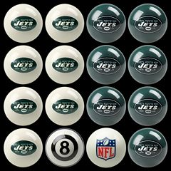 New York Jets Home vs. Away 16-pc. Billiard Ball Set