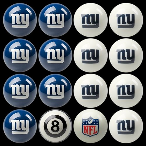 New York Giants Home vs. Away 16-pc. Billiard Ball Set