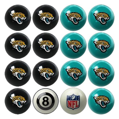 Jacksonville Jaguars Home vs. Away 16-pc. Billiard Ball Set