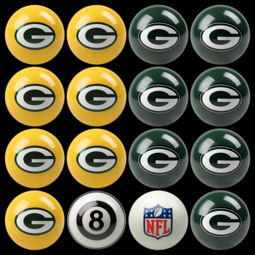 Green Bay Packers Home vs. Away 16-pc. Billiard Ball Set