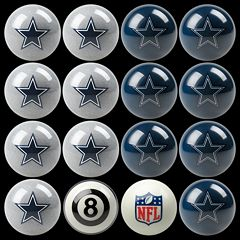 Dallas Cowboys Home vs. Away 16-pc. Billiard Ball Set