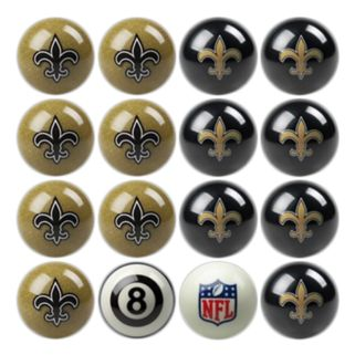 New Orleans Saints Home vs. Away 16-pc. Billiard Ball Set