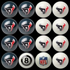 Houston Texans Home vs. Away 16-pc. Billiard Ball Set