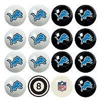 Detroit Lions Home vs. Away 16-pc. Billiard Ball Set