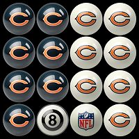 Chicago Bears Home vs. Away 16-pc. Billiard Ball Set