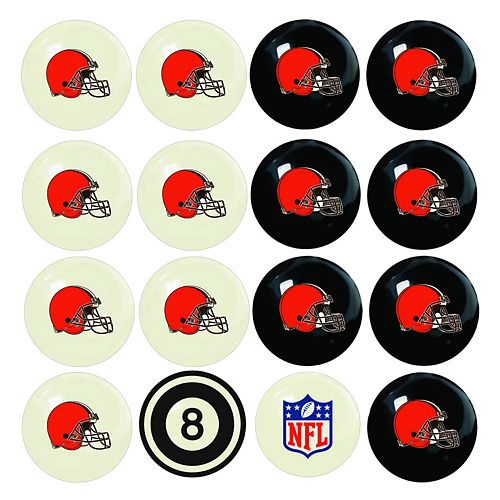 Cleveland Browns Home vs. Away 16-pc. Billiard Ball Set