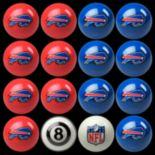 Buffalo Bills Home vs. Away 16-pc. Billiard Ball Set