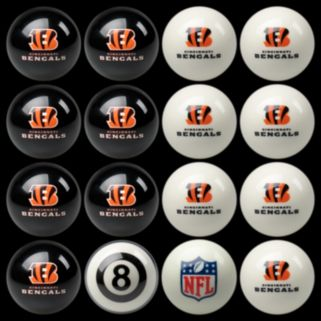 Cincinnati Bengals Home vs. Away 16-pc. Billiard Ball Set