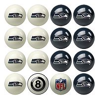 Seattle Seahawks Home vs. Away 16-pc. Billiard Ball Set