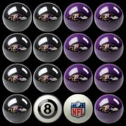 Baltimore Ravens Home vs. Away 16 pc Billiard Ball Set