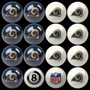 Los Angeles Rams Home vs. Away 16 pc Billiard Ball Set