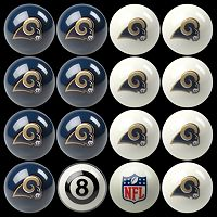 Los Angeles Rams Home vs. Away 16-pc. Billiard Ball Set