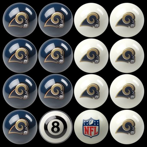 Los Angeles Rams Home vs. Away 16-pc. Billiard Ball Set