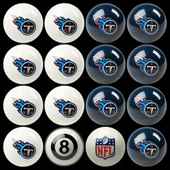 Tennessee Titans Home vs. Away 16-pc. Billiard Ball Set