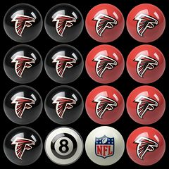 Atlanta Falcons Home vs. Away 16-pc. Billiard Ball Set