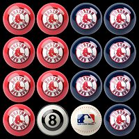 Boston Red Sox Home vs. Away 16 pc Billiard Ball Set