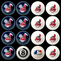 Cleveland Indians Home vs. Away 16 pc Billiard Ball Set