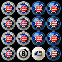 Chicago Cubs Home vs. Away 16 pc Billiard Ball Set