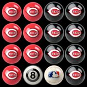 Cincinnati Reds Home vs. Away 16-pc. Billiard Ball Set