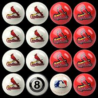 St. Louis Cardinals Home vs. Away 16 pc Billiard Ball Set