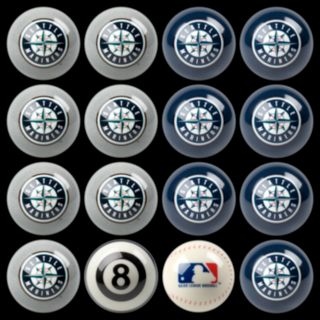 Seattle Mariners Home vs. Away 16-pc. Billiard Ball Set