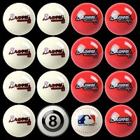 Atlanta Braves Home vs. Away 16-pc. Billiard Ball Set