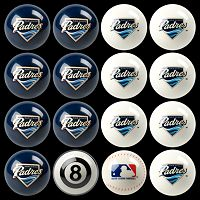 San Diego Padres Home vs. Away 16 pc Billiard Ball Set