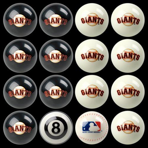 San Francisco Giants Home vs. Away 16-pc. Billiard Ball Set