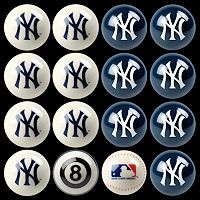 New York Yankees Home vs. Away 16 pc Billiard Ball Set