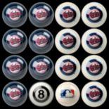 Minnesota Twins Home vs. Away 16-pc. Billiard Ball Set