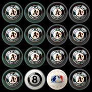Oakland Athletics Home vs. Away 16-pc. Billiard Ball Set