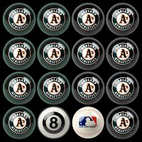 Oakland Athletics Home vs. Away 16 pc Billiard Ball Set