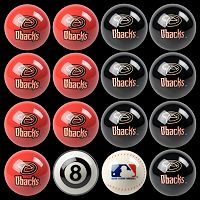 Arizona Diamondbacks Home vs. Away 16 pc Billiard Ball Set