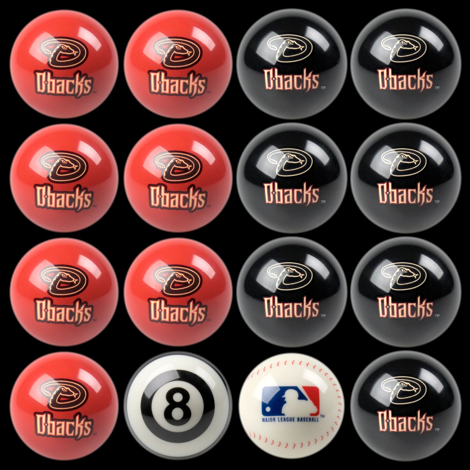 Arizona Diamondbacks Home Vs. Away 16 Pc. Billiard Ball Set