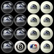Colorado Rockies Home vs. Away 16-pc. Billiard Ball Set